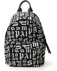 Palm Angels Monogram Logo Backpack - Black