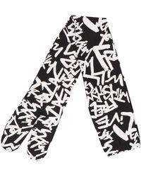 Comme des Garçons Allover Printed Leggings - Black
