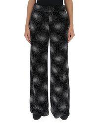 Sonia Rykiel Glittered Velvet Wide-leg Trousers - Black