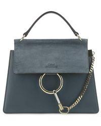 Chloé Faye Small Shoulder Bag - Blue