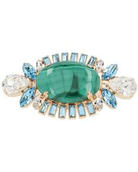 Dolce & Gabbana Crystal Stone Ring - Green