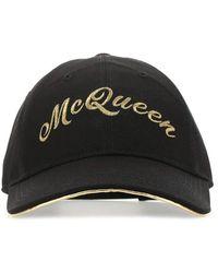 Alexander McQueen Logo Embroidered Baseball Cap - Black