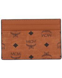 MCM Visetos Card Holder - Brown