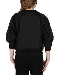 Alexander McQueen Crewneck Cropped Sweatshirt - Black