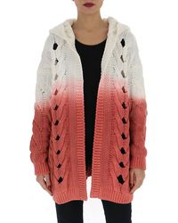 Saint Laurent Two-tone Cardigan - Red
