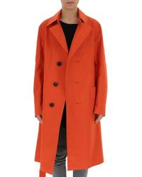 Golden Goose Deluxe Brand Single Breasted Trench Coat - Orange