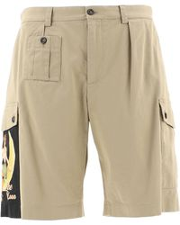 Dolce & Gabbana Bring Me To The Moon Cargo Shorts - Natural