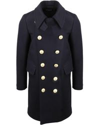 DSquared² Double Breasted Coat - Blue