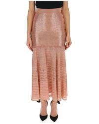 Alexander McQueen Knitted Fishtail Skirt - Orange