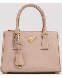 Prada Galleria Mini Tote Bag - Natural