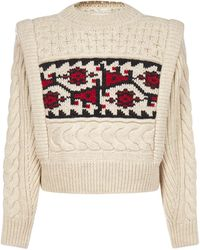 Étoile Isabel Marant Cable Knit Sweater - Natural