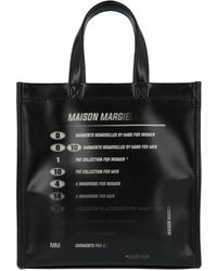 MM6 by Maison Martin Margiela Logo Print Tote Bag - Black