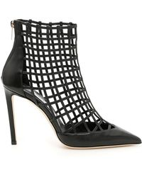 Jimmy Choo - Women's Sheldon 100 Caged Leather High-heel Booties - Lyst
