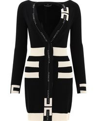 Elisabetta Franchi - Knit Dress With Horsebit - Lyst