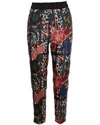 Moncler Pantaloni Stampa Multicolour - Red