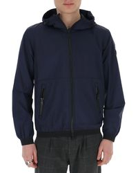 Woolrich Hooded Bomber Jacket - Blue