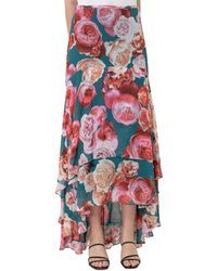 Pinko - Pino Floral Print Tiered Maxi Skirt - Lyst