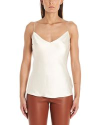 f543166d8ba Theory V-Neck Tank Top in White - Lyst