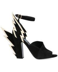 Prada Flame Heeled Shoes - Black