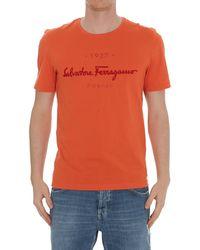 Ferragamo Logo T-shirt - Orange