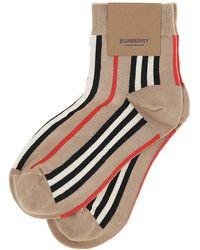 Burberry Icon Striped Ankle Socks - Multicolour