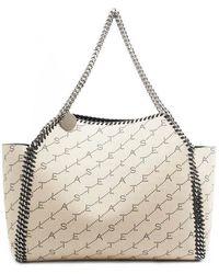 Stella McCartney - Falabella Logo Print Tote Bag - Lyst 8208b244b7dcb