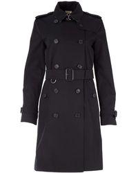 Burberry Kensington Trench Coat - Black