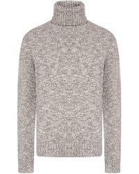 Dolce & Gabbana Virgin Wool Turtleneck - Grey