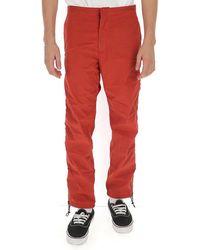 Heron Preston Side Zipped Trousers - Red