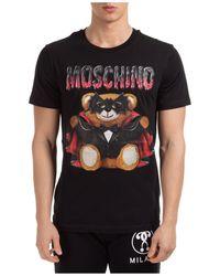 Moschino Dracula Teddy Print T-shirt - Black