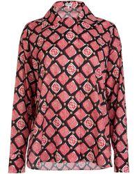 Loewe Anagram Motif Shirt - Red
