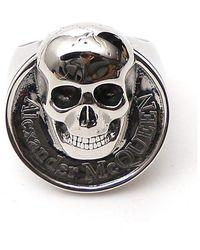 Alexander McQueen Skull Ring - Metallic