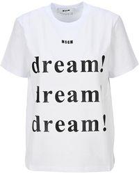 MSGM Dream Logo T-shirt - White