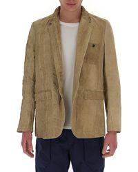 Uma Wang Tonal Dot Patterned Jacket - Natural