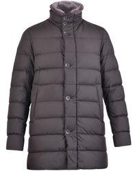 Herno Faux Fur Collared Puffer Coat - Black
