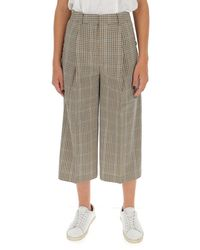 MICHAEL Michael Kors Checked Wide-leg Trousers - Brown
