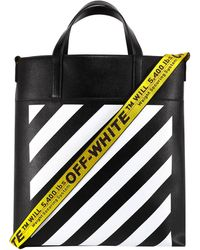 Off-White c/o Virgil Abloh Diagonal Tote Bag - Black