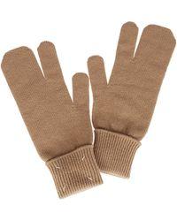 Maison Margiela Tabi Knitted Gloves - Brown