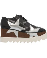 Stella McCartney Elyse Star Embellished Wedge Shoes - Black