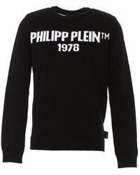 Philipp Plein Logo Embroidery Sweater - Black