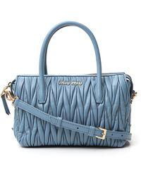 Miu Miu Matelassé Tote Bag - Blue