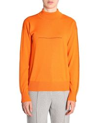 MM6 by Maison Martin Margiela Turtleneck Pullover - Orange