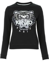 KENZO Tiger Embroidered Sweatshirt - Black
