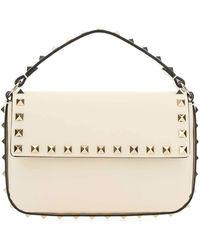 Valentino Garavani Rockstud Crossbody Bag - White