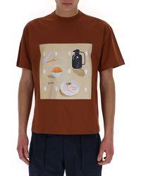 Jacquemus Tableau Printed T-shirt - Brown