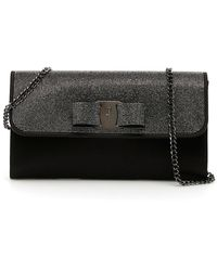 Ferragamo Crystal Vara Bag - Black