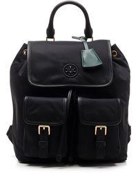 Tory Burch Perry Flap Backpack - Black