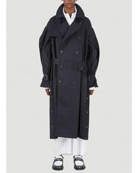 Y. Project Double-breasted Belted Trench Coat - Blue