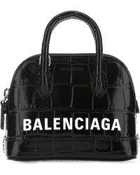 Balenciaga Ville Mini Top Handle Bag - Black