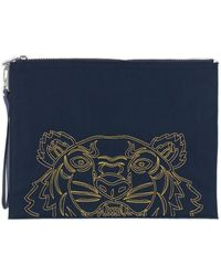 KENZO Kampus Tiger Large Pouch - Blue